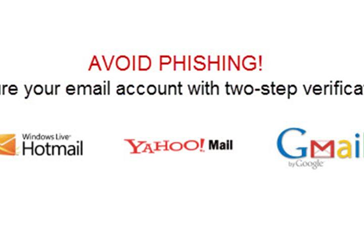 Avoid phishing with the two-step verification process