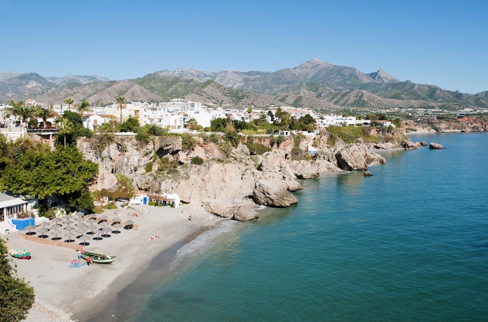 One Of The Amazing Beaches On The Costa Del Sol Nerja
