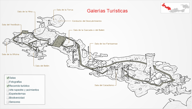 Nerja caves map
