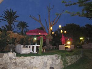 Garden chill out restaurante Varadero en Atlanterra, Zahara