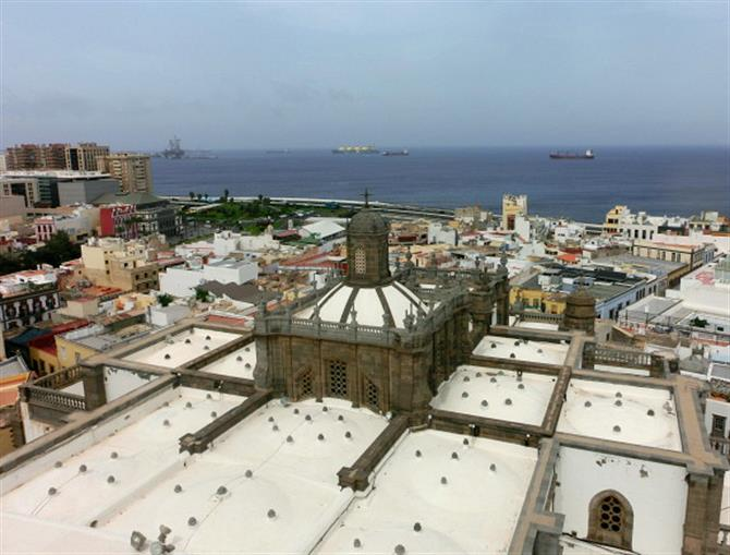 View of the Atlantic from the Catedral de Santa Ana