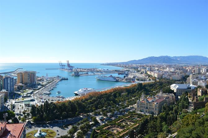 View of Malaga from Gibralfaro