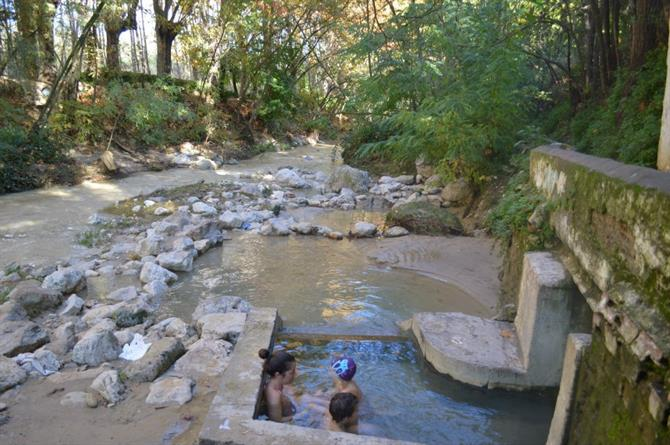 Hot pools in Alhama de Granada