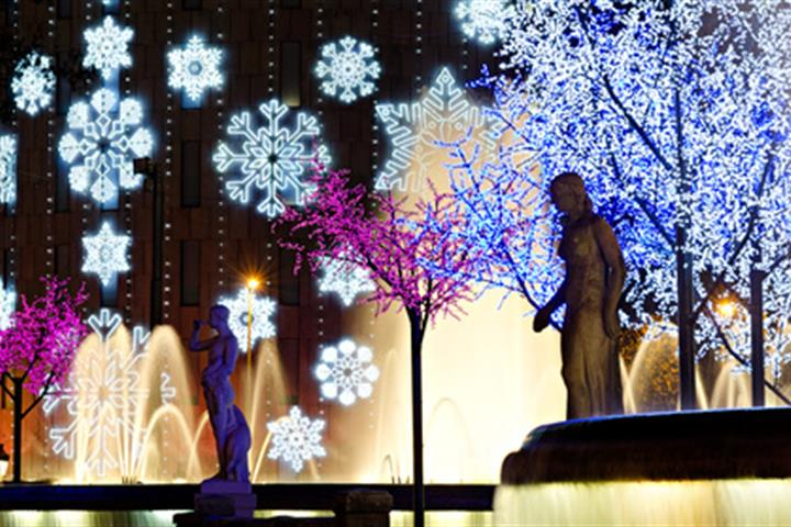 See the Christmas lights in Barcelona