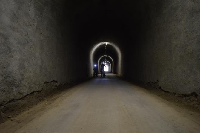 Tunnel in the Via Verde de la Sierra