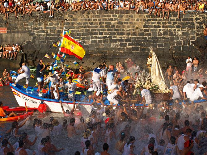 Fiesta del Carmen celebrations in Puerto de la Cruz, Tenerife