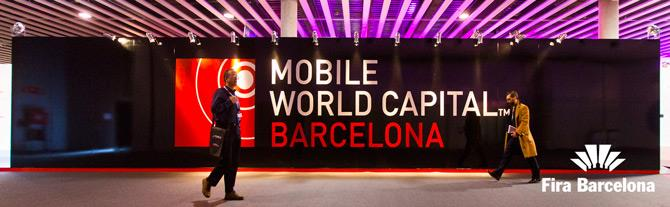 Affiche du Mobile World Capital de Barcelone, Catalogne (Espagne)