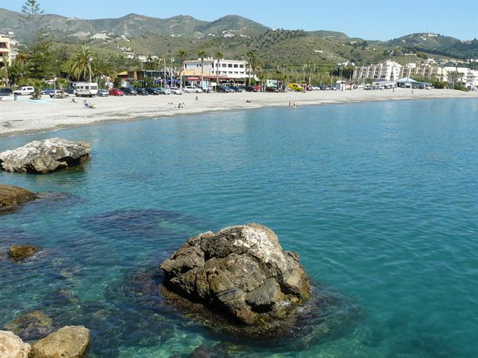 Beach in La Herradura, Costa Tropical