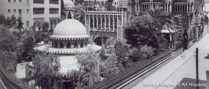 Casa Vicens with the full garden in 1941