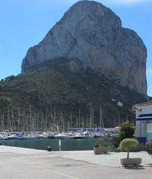 Magnificent Ifach rock at Calpe