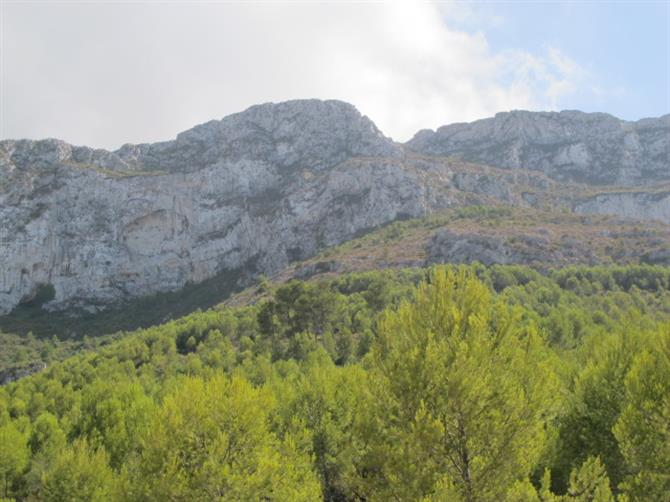 View of the Montgo mountain from Denia