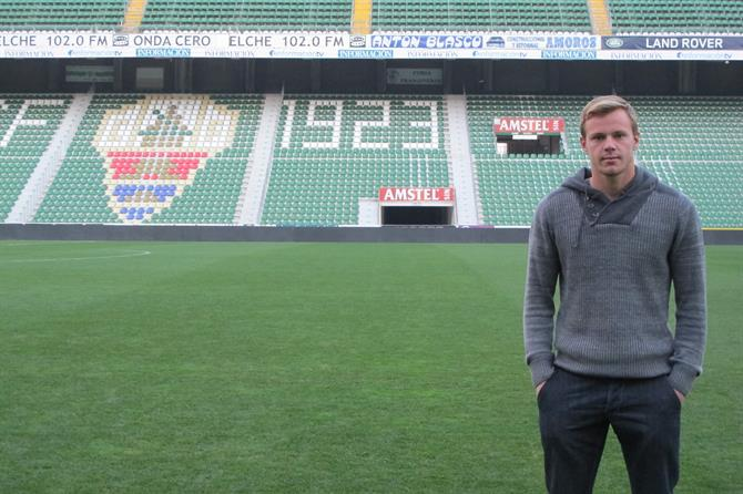 Charlie I'Anson at Elche football club