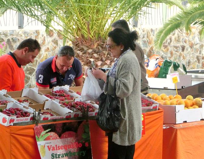 Valsequillo strawberry stall