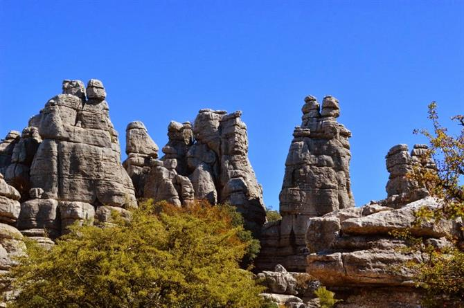 Rock formations in El Torcal Antequera