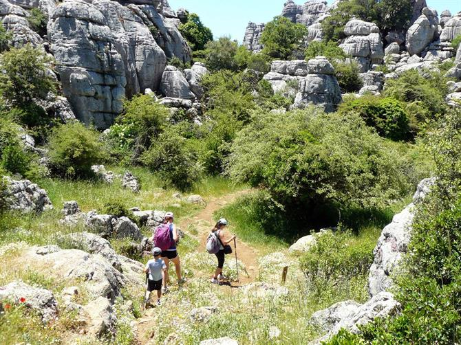 Hiking in El Torcal Antequera