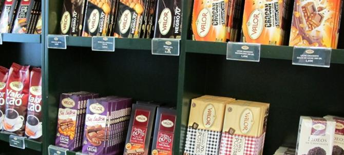 Selection of Valor chocolates