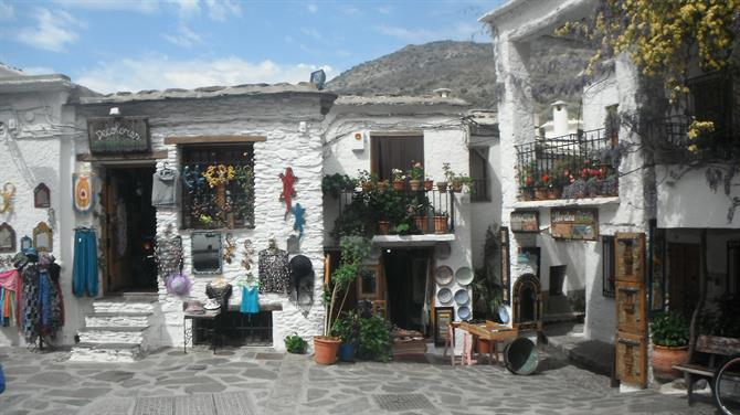 Little white shops in Pampaneira