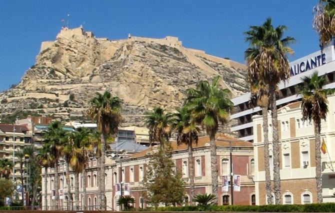Alicante castle from the marina