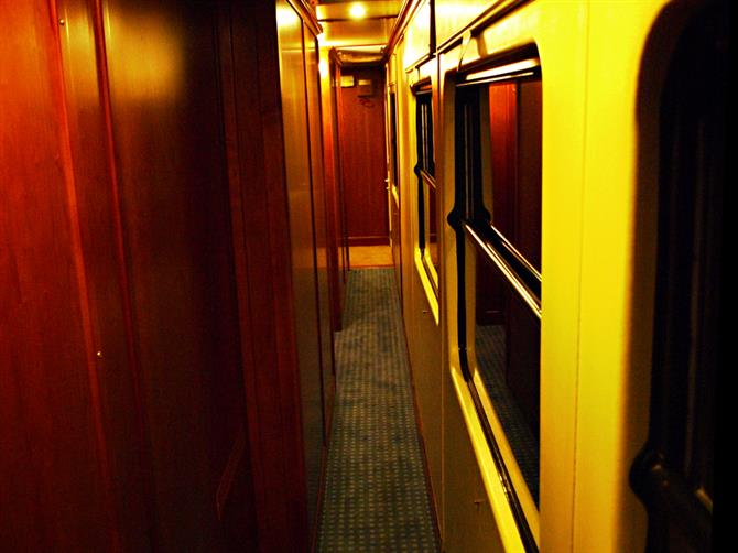 Corridor, El Transcantabrico luxury train, Asturias