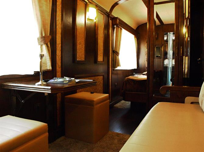 Sleeping carriage, El Transcantabrico, luxury train, Asturias