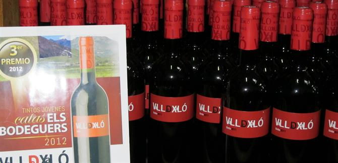 Award-winning wines at Bodegas Xalo, Jalon Valley, Alicante