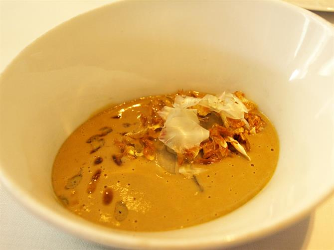 Lobster parmentier with trumpet mushrooms, El Celler de Can Roca, Girona