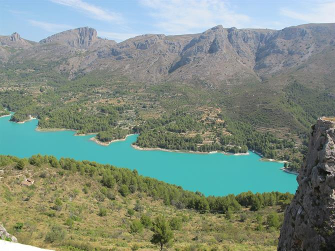 Gorgeous turquoise Guadalest reservoir
