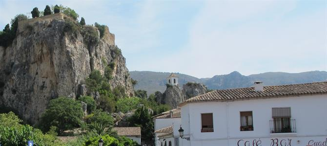 Restaurants and shops in Guadalest