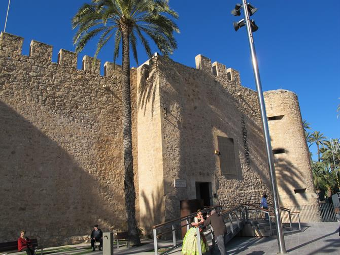 Elche castle in Alicante province