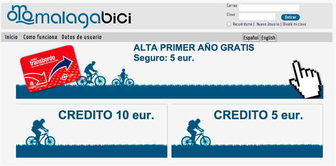 Registering for Malaga Bici