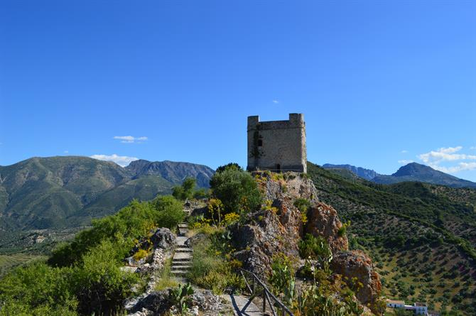 The castle at Zahara de la Sierra