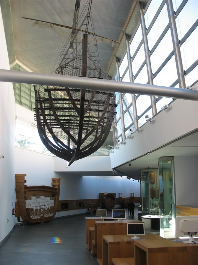 Ship displayed in Arqua Museum