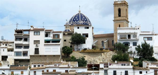 Altea's blue-domed church