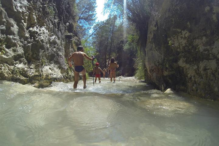 A family walk up the Rio Chillar, Nerja, Costa del Sol
