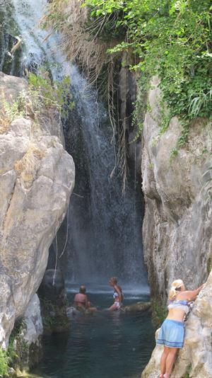 Algar Waterfall in Alicante