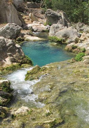 Algar Waterfall in Callosa d'en Sarria, Alicante