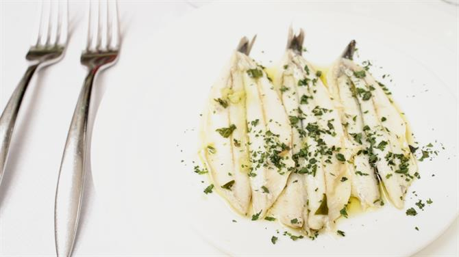 Boquerones in vinegar/Anchovies in vinegar
