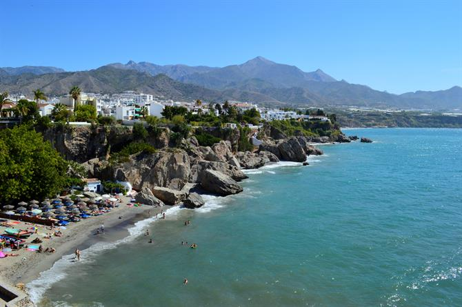 View of Calahonda beach, Nerja