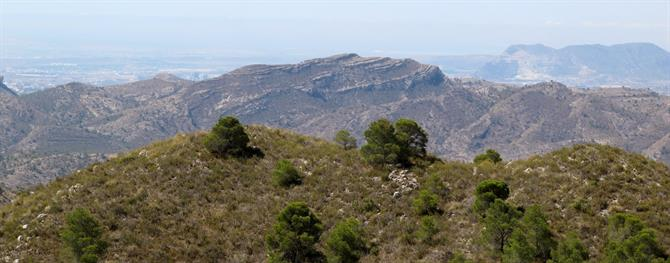 Mountains between Jijona and Agost, Alicante