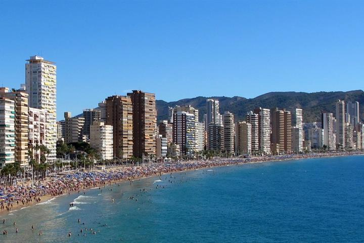 Hotels On Levante Beach Front Benidorm