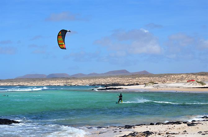 Kiteboarding, Fuerteventura, Canary Islands