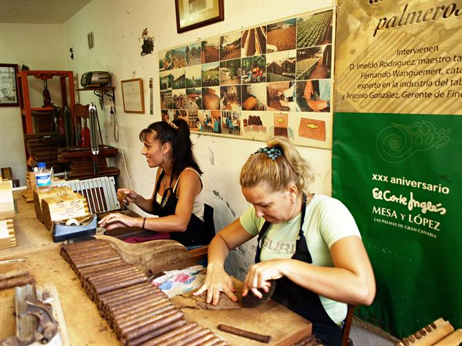 Cigar rolling factory, La Palma, Canary Islands
