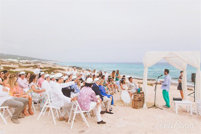Wedding at the beach, Formentera