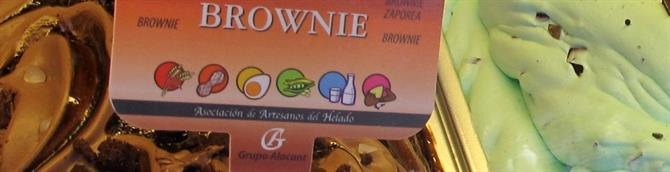 All varieties of ices in Alicante