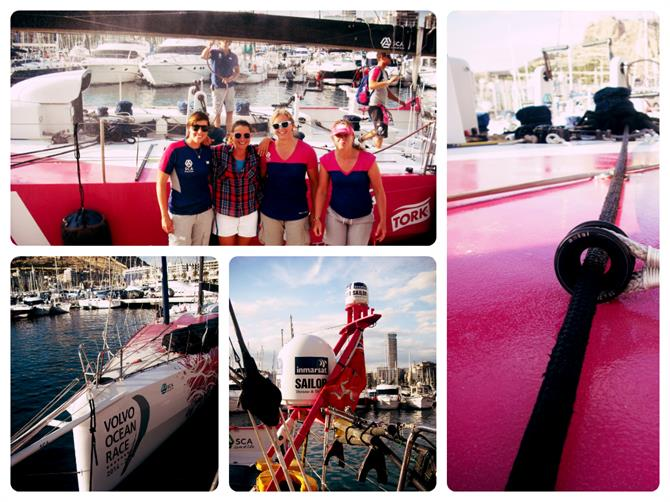 Autorin Luise Wagner trifft auf das Hospitality Team SCA in Alicante