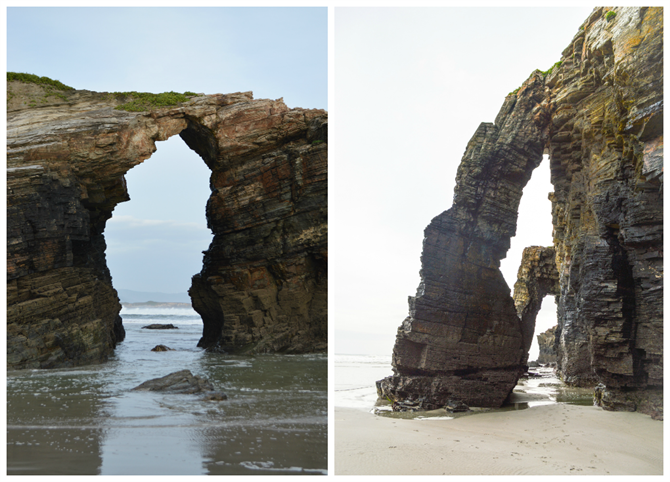 Playa de las Catedrales, Galicien