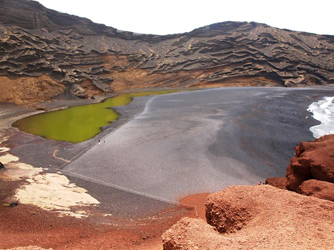 El Golfo, the green lake, Lanzarote