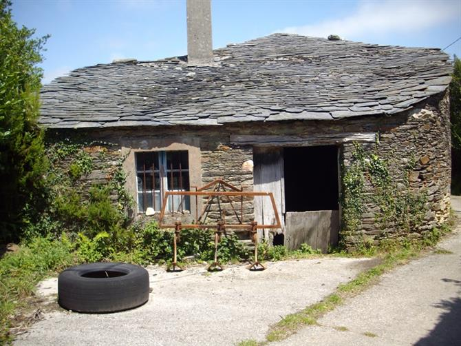 Typical stone house in Galicia