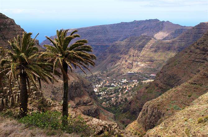 View of Cesar Manrique Mirador and Valle Gran Rey, La Gomera