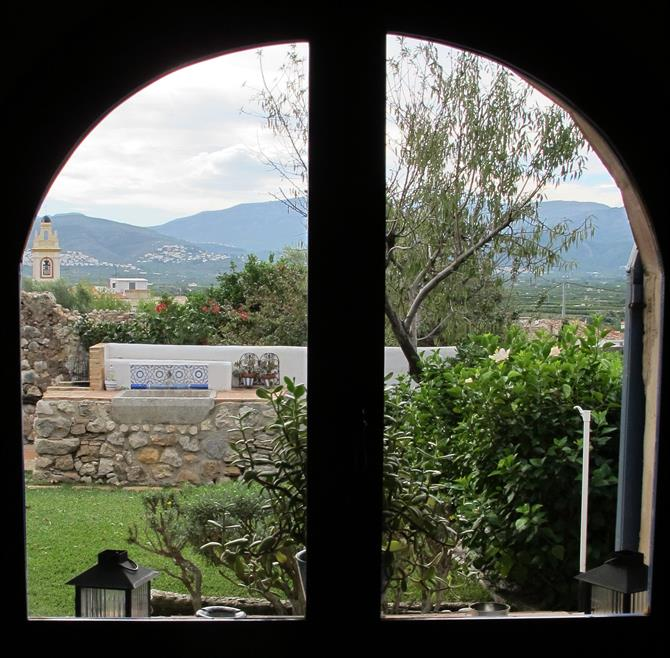 View from the window of a rural guesthouse in Benimeli, Alicante